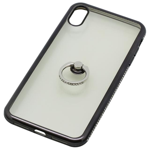 iPhoneXS Max用 6.5インチリング付ケースラインストーン